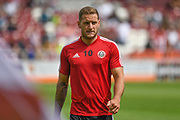 Sheffield United forward Billy Sharp (10) during the Pre-Season Friendly match between Northampton Town and Sheffield United at the PTS Academy Stadium, Northampton, England on 20 July 2019.