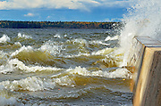 Storm on Waskesiu Lake<br /> Prince Albert National Park<br /> Saskatchewan<br /> Canada