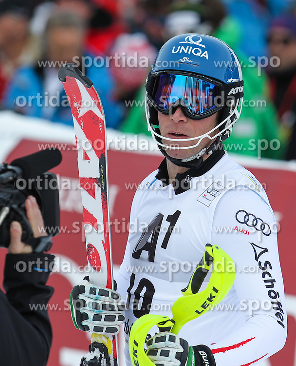 27.01.2013, Ganslernhang, Kitzbuehel, AUT, FIS Weltcup Ski Alpin, Slalom, Herren, 2. Lauf, im Bild Benjamin Raich (AUT) // Benjamin Raich of Austria reacts after 2nd run of the mens Slalom of the FIS Ski Alpine World Cup at the Ganslernhang course, Kitzbuehel, Austria on 2013/01/27. EXPA Pictures © 2013, PhotoCredit: EXPA/ Sammy Minkof