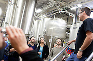 Head Brewer/Head Distiller Yuseff Cherney leads a tour group through Ballast Point Brewing Company's headquarters in Escondido as part of the San Diego Science Festival, March 21, 2011.