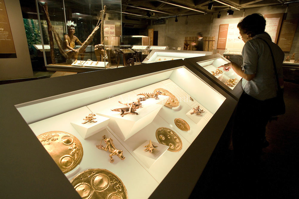 Pre-Columbian gold artifacts in the Costa Rican Gold Museum, San Jose, Costa Rica.<br /> <br /> For pricing click on ADD TO CART (above). We accept payments via PayPal.