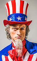 Uncle Sam portrait looking directly into the camera.
