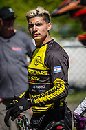 #595 (MOLINA Gonzalo) ARG at Round 4 of the 2018 UCI BMX Superscross World Cup in Papendal, The Netherlands