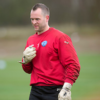 St Johnstone keeper Alan Mannus pictured during training this morning....09.05.13<br /> Picture by Graeme Hart.<br /> Copyright Perthshire Picture Agency<br /> Tel: 01738 623350  Mobile: 07990 594431