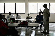 """BIRMINGHAM, AL – JULY 29, 2015: <br /> Lawrence Posey addresses a group of recently paroled inmates during his """"Thinking For A Change"""" class. Posey served 31 years of a life sentence in maximum security prison for his involvement in a robbery that led to the non-fatal shooting of a police officer. Since his release, Posey was recruited by the UAB TASC (Treatment Against Street Crime) initiative to combat persistent criminal behavior through education and mentorship. """"We've been able to make an impact,"""" Posey said. """"People feel like they can listen to me because I've lived the life,"""" Posey said. """"Recidivism has gone down, lives are being changed. It's a real eye opener for most of them. And that makes a world of difference.""""<br /> The Alabama Justice Reinvestment Act (SB67), more commonly referred to as the Criminal Justice Reform Act, has received bi-partison support in the state of Alabama where aging prison infrastructure has not kept up with the demands of a rising inmate population. With prison facilities averaging 184% capacity, the bill attempts to alleviate overcrowding through a combination of sentencing reform and the expansion of supervised probation and local community corrections programs.<br /> CREDIT: Bob Miller for The Daily Signal"""