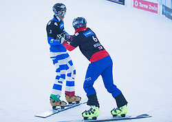 March Aaron and Prommegger Andreas during the FIS snowboarding world cup race in Rogla (SI / SLO) | GS on January 20, 2018, in Jasna Ski slope, Rogla, Slovenia. Photo by Urban Meglic / Sportida