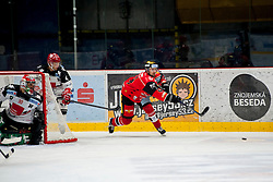 23.10.2016, Ice Rink, Znojmo, CZE, EBEL, HC Orli Znojmo vs HC TWK Innsbruck Die Haie, 13. Runde, im Bild v.l. Andy Chiodo (HC TWK Innsbruck) Daniel Mitterdorfer (HC TWK Innsbruck) Michal Vodny (HC Orli Znojmo) // during the Erste Bank Icehockey League 13th round match between HC Orli Znojmo and HC TWK Innsbruck Die Haie at the Ice Rink in Znojmo, Czech Republic on 2016/10/23. EXPA Pictures © 2016, PhotoCredit: EXPA/ Rostislav Pfeffer