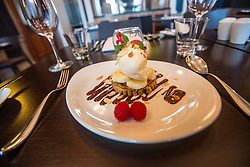 Tam Cowan's restaurant review at The Place Hotel, 34-38 York Place, Edinburgh. The banoffi pie.
