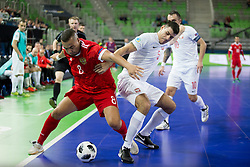 Eder Lima of Russia and Robert Gladczak of Poland during futsal match between Russia and Poland at Day 1 of UEFA Futsal EURO 2018, on January 30, 2018 in Arena Stozice, Ljubljana, Slovenia. Photo by Ziga Zupan / Sportida
