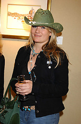 Singer GEORGINA BLAKELEY at a private view of paintings by singer Tony Bennett held at the catto Gallery, 100 Heath Street, London NW3 on 5th April 2005.<br />