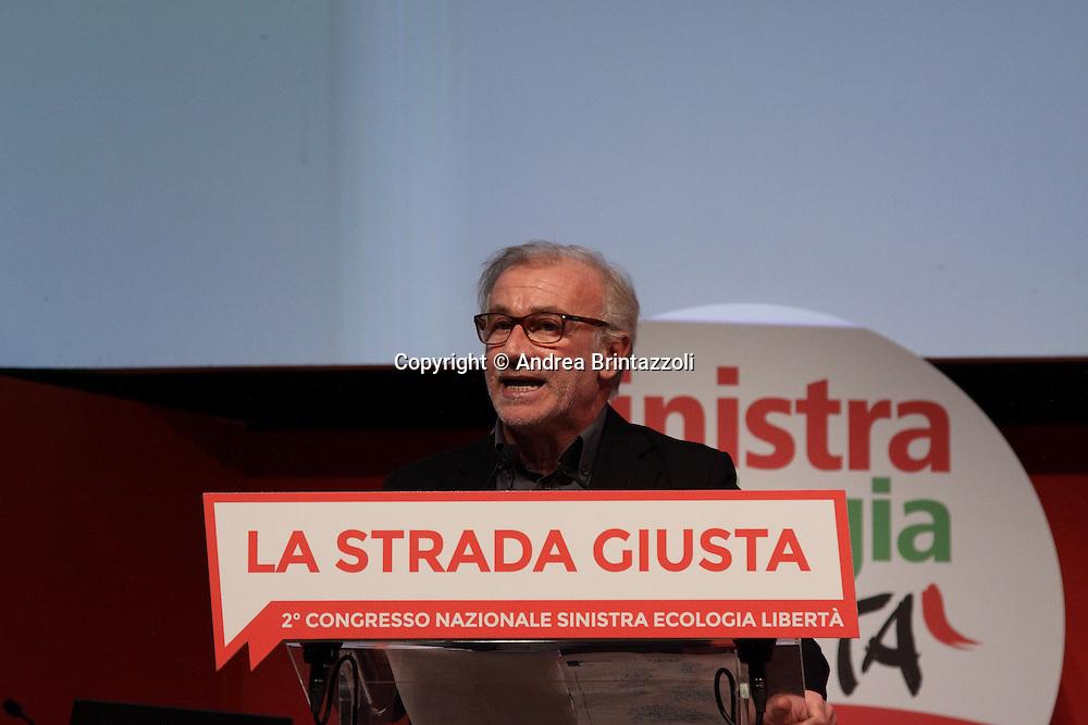 Riccione 25 Gennaio 2014 - 2&deg; Congresso Nazionale Sinistra Ecologia Liberta' - SEL<br /> Intervento di Franco Giordano al congresso SEL