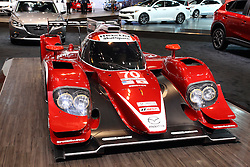 11 February 2016:  Mazda prototype race vehicle.<br /> <br /> First staged in 1901, the Chicago Auto Show is the largest auto show in North America and has been held more times than any other auto exposition on the continent.  It has been  presented by the Chicago Automobile Trade Association (CATA) since 1935.  It is held at McCormick Place, Chicago Illinois<br /> #CAS16
