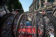 Stage 9 start - RadioShack bikes.