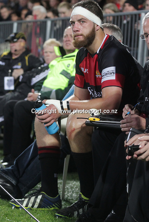 Canterbury lock Joel Everson in the sin bin.<br /> ITM Cup match between Canterbury and Wellington, held at AMI Stadium, Christchurch, New Zealand, 12 September 2014. Credit: www.photosport.co.nz