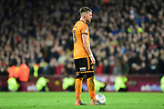 Wolverhampton Wanderers defender Barry Douglas (3)  gets ready for a free kick during the EFL Sky Bet Championship match between Aston Villa and Wolverhampton Wanderers at Villa Park, Birmingham, England on 10 March 2018. Picture by Dennis Goodwin.