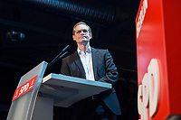 22 MAR 2017, BERLIN/GERMANY:<br /> Michael Mueller, SPD, Reg. Buergermeister Berlin, haelt eine Rede auf dem Neumitgliedertreffen der Berliner SPD, Festsaal Kreuzberg<br /> IMAGE: 20170322-02-092<br /> KEYWORDS: Michael M&uuml;ller, speech