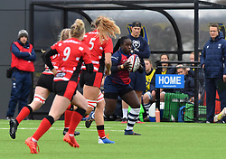 Simi Pam of Bristol Bears Women with the ball - 2019 - RUGBY - Shaftesbury Park - Bristol, England - Bristol Bears Women v Gloucester-Hartpury Women - Tyrrells Premier 15s