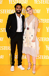 Himesh Patel (left) and Lily James attending the Yesterday UK Premiere held in London, UK.
