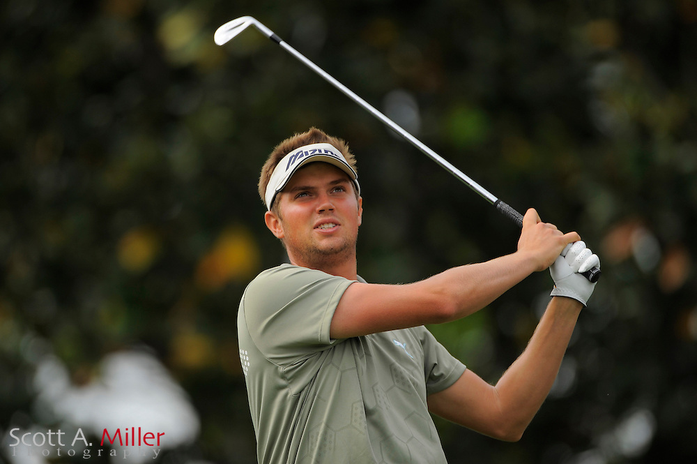 March 27, 2009; Orlando, FL, USA; Jeff Overton tees off on the second hole during the second round of the Arnold Palmer Invitational at the Bay Hill Club and Lodge. ©2009 Scott A. Miller