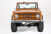 The ford bronco san francisco off-road vehicle<br /> <br /> The company classic ford bronco's from ohio (classicfordbroncos.com) elevates the iconic off-road vehicle with new standards of elegance. first introduced in 1966, the original ford 'bronco' was an off-road vehicle intended to compete with JEEP 'CJ' models and the international harvester scout. what ford eventually went on to learn was that this 2-door would go on to depict what many believe is the traditional form of a multi-purpose vehicle.<br /> <br /> What they did..<br /> CFB full frame off restoration. One of our more popular finishes, Saddle Bronze. This truck has plenty of power thanks to the upgraded Ford Racing 350 HP engine. If you are looking for a Bronco with an authentic muscle car sound, this is it. Upgrades: engine, carpet, spare tire, stainless trim kit.<br /> ©classicfordbroncos.com/Exclusivepix Media