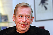 Former Czech president Vaclav Havel during an interview in his office located in the Prague city center at the 19th of September 2007 (Archive image). Havel died on the 18th of December 2011 in the age of 75 years.