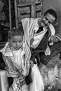 Father and son in Sana'a