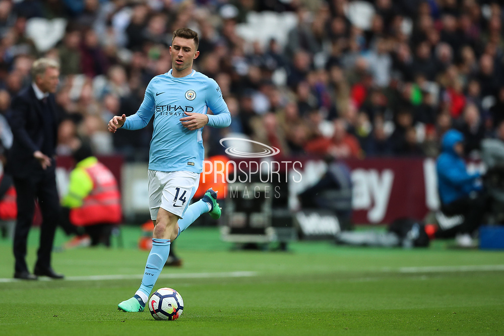 Manchester City defender Aymeric Laporte (14) during the Premier League match between West Ham United and Manchester City at the London Stadium, London, England on 29 April 2018. Picture by Toyin Oshodi.