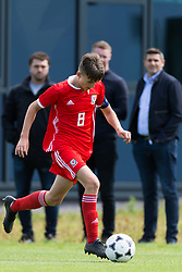 WREXHAM, WALES - Thursday, August 15, 2019: Wales' captain Ben Lloyd during the UEFA Under-15's Development Tournament match between Wales and Northern Ireland at Colliers Park. (Pic by Paul Greenwood/Propaganda)