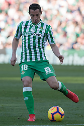 February 3, 2019 - Sevilla, Andalucia, Spain - Guardado of Real Betis  kick the ball  during the LaLiga match between Real Betis vs Atletico de Madrid at the Estadio Benito Villamarin in Sevilla, Spain. (Credit Image: © Javier MontañO/Pacific Press via ZUMA Wire)