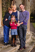 Family portraits of Robert Richie and Kirsty Archer,with their children Jack & Holly.  Taken at the Haining House in Selkirk.