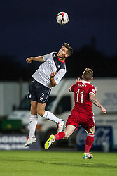 Falkirk's Kieran Duffie and Jonny Hayes.<br /> Falkirk 0 v 5 Aberdeen, the third round of the Scottish League Cup.<br /> &copy;Michael Schofield.