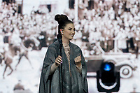 REGINA, SK - MAY 17: Jess Moskaluke sings on stage during the opening ceremonies of the 2018 MasterCard Memorial Cup at Mosaic Stadium on May 17, 2018 in Regina, Canada. (Photo by Marissa Baecker/Shoot the Breeze)
