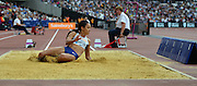 GBR long jumper Katarina Johnson-Thompson during the Sainsbury's Anniversary Games at the Queen Elizabeth II Olympic Park, London, United Kingdom on 25 July 2015. Photo by Mark Davies.