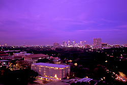 Stock photo of an aerial view of the Texas Medical center from afar