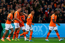 10-10-2019 NED: Netherlands - Northern Ireland, Rotterdam<br /> UEFA Qualifying round ­Group C match between Netherlands and Northern Ireland at De Kuip in Rotterdam / Luuk de Jong #19 of the Netherlands scores 2-1 and celebrate