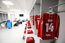 Shirt of Bobby Reid of Bristol City hangs in the Bristol City away dressing room - Rogan/JMP - 09/01/2018 - Etihad Stadium - Manchester, England - Manchester City v Bristol City - Carabao Cup Semi Final First Leg.