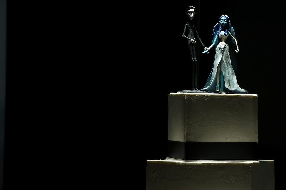 Connie Hernandez and Blessing Tran's Tim Burton Corpse Bride wedding cake in Denver, Saturday, July 14, 2012.