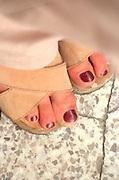 Beautiful painted feet age 54.  Torun Poland