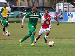 Ajax Cape Town midfielder Justin Jacobus in a friendly game v NFD club Cape Town All Stars at Ikamva on August 10, 2017 in Cape Town, South Africa.