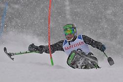 KURKA Andrew LW12-1 USA at 2018 World Para Alpine Skiing World Cup slalom, Veysonnaz, Switzerland