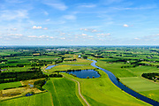 Nederland, Overijssel, Dalfsen, 17-07-2017; Overijsselse Vecht (of De Vechte) ten westen van Dalfsen. Vroegere meander (of dijkdoorbraak ?)<br /> River Vecht.<br /> luchtfoto (toeslag op standard tarieven);<br /> aerial photo (additional fee required);<br /> copyright foto/photo Siebe Swart