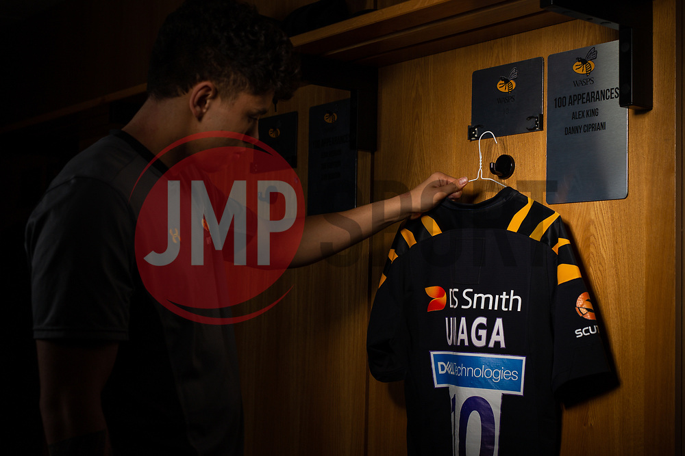 Jack Willis and Jacob Umaga of Wasps pose as part of the Wasps 2020/21 season Membership campaign - Mandatory by-line: Robbie Stephenson/JMP - 13/02/2020 - FOOTBALL - Ricoh Arena - Coventry, England - Wasps 2020/21 Season Membership Campaign