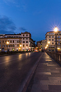 Twilight; Firenze; Florence; Italy; Ponte Vespucci