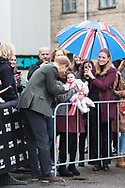 25.10.12017. Copenhagen, Denmark.  <br /> Prince Harry has praised the resilience of a Syrian refugee and met her baby daughter on a visit to a social project in Copenhagen.<br /> Photo: © Ricardo Ramirez