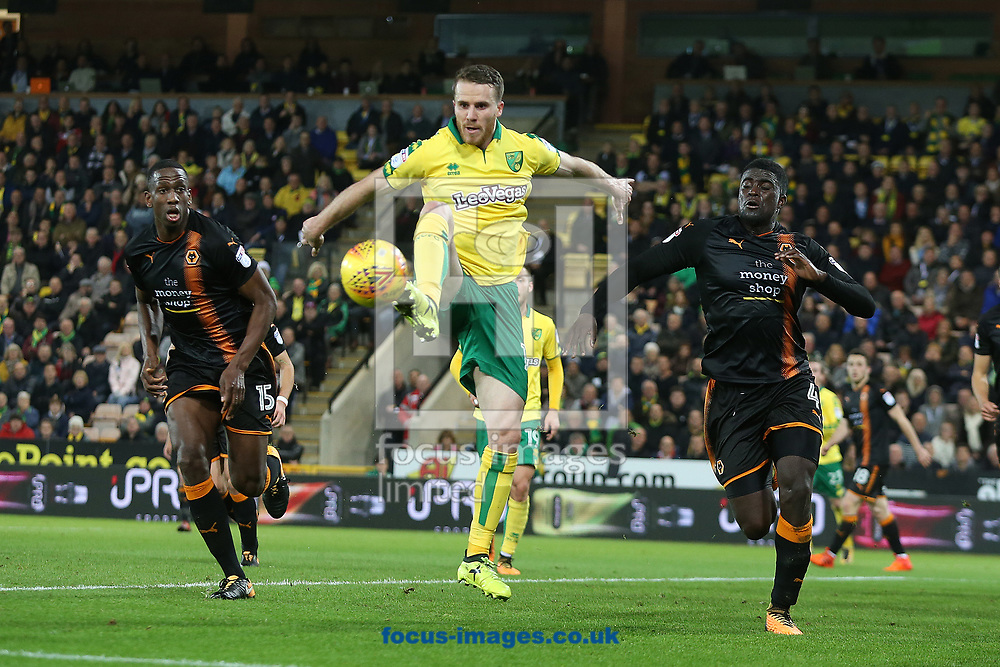 Marley Watkins of Norwich in action during the Sky Bet Championship match at Carrow Road, Norwich<br /> Picture by Paul Chesterton/Focus Images Ltd +44 7904 640267<br /> 31/10/2017