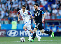 Gylfi Sigurdsson (Iceland) and Lionel Messi (Argentina) <br /> Moscow 16-06-2018 Football FIFA World Cup Russia  2018 <br /> Argentina - Iceland / Argentina - Islanda<br /> Foto Matteo Ciambelli/Insidefoto