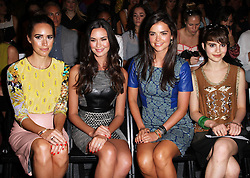 Louise Roe, Odette Annable , Katie Lee and Sami Gayle  at the Tracy Reese show at  New York Fashion Week  Sunday, 9th September 2012. Photo by: Stephen Lock / i-Images