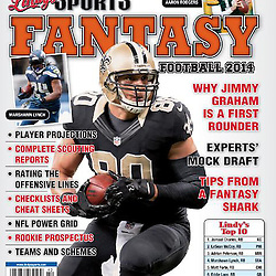 Lindys Sports Fantasy Football 2014 Cover - Jimmy Graham - Saints