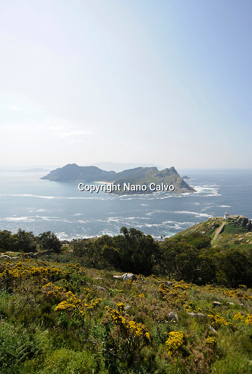 Cies Islands (Islas C&iacute;es), a paradisiac archipelago and Natural Reserve since 1908, off the coast of Pontevedra, in Galicia, Spain. <br /> <br /> In the year 2007, the British newspaper The Guardian chose the beach of Rodas, in the island of Monteagudo, as the &quot;most beautiful beach of the world&quot;.