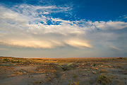 Sunset at the Adobe Town Rim, Adobe Town Study Area, Sweetwater County, Wyoming.